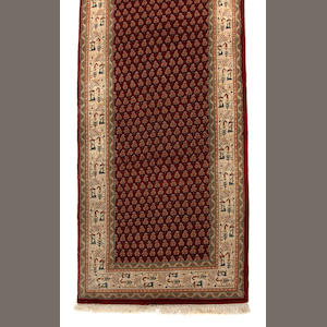 A Mir runner size approximately 2ft. 2in. x 11ft.