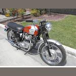 1969 Triumph Bonneville Frame no. 14845T120R Engine no. CC14845
