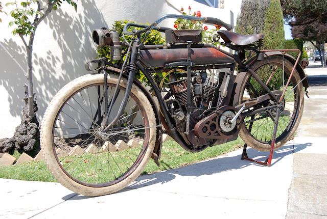 "From the collection of AMCA Technical Advisor ""Red"" Fred Johansen,1911 Indian 7hp Big Twin Engine no. 71C884"