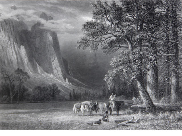 After Albert Bierstadt; A Halt in the Yosemite Valley;