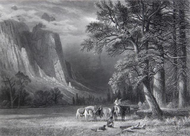 After Albert Bierstadt; A Halt in the Yosemite Valley;