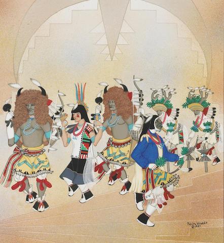 A Pablita Velarde painting