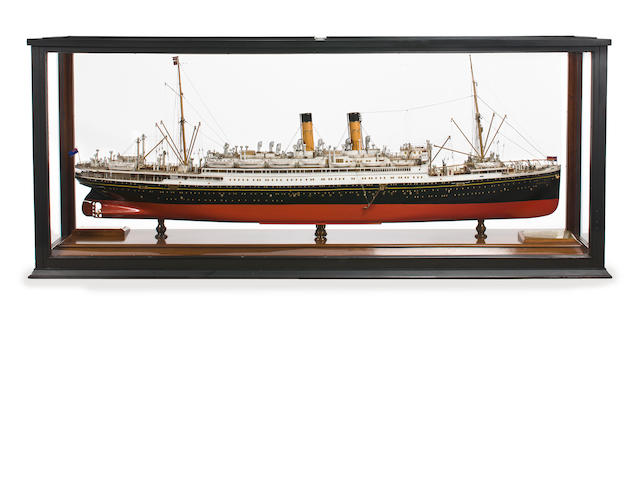 A builders' model of the R.M.S. Albertic for the White Star Line<br> circa 1927 82-1/4 x 18 x 34 in. (208.9 x 45.7 x 86.3 cm.) cased.