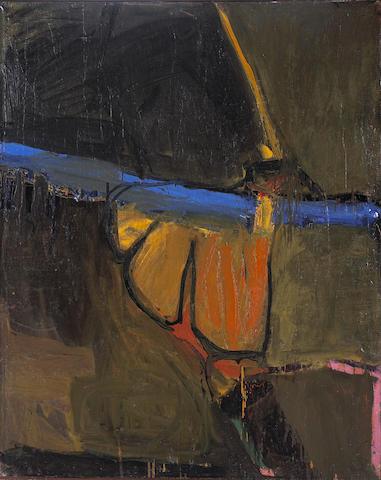 Joan Brown (American, 1938-1991) Zoo, 1957 60 x 48in