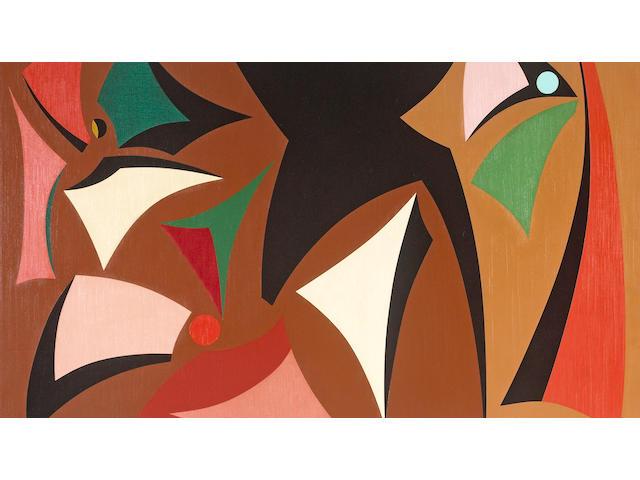 Karl Stanley Benjamin (American, born 1925) Bouquet, 1957 24 x 36in