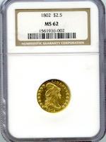 1802 $2.5 MS62 NGC BD-1, R.4.