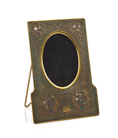 A Tiffany Studios gilt-bronze Abalone picture frame 1899-1918