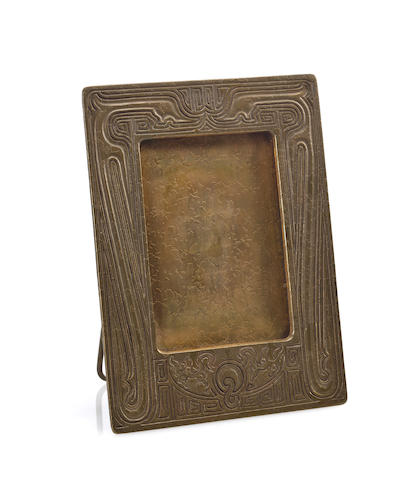 A Tiffany Studios bronze Chinese picture frame 1899-1918