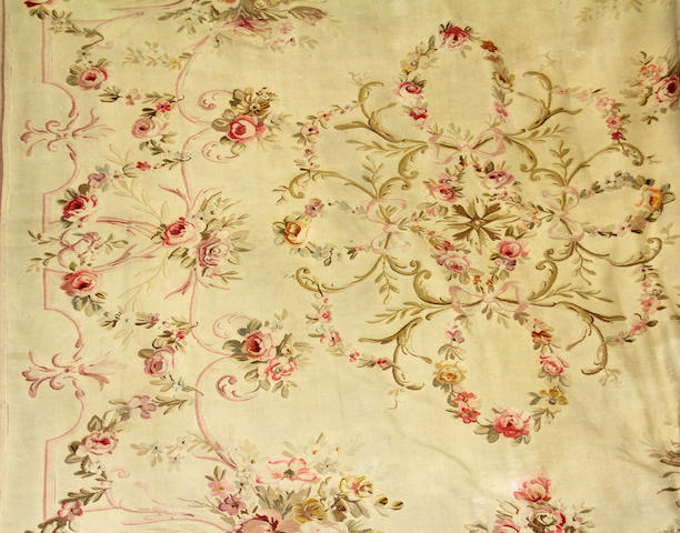 An Aubusson carpet France size approximately 8ft. 10in. x 13ft.