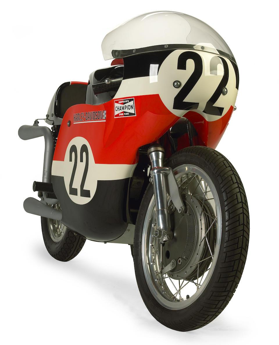 Ex-Dan Haaby, Legend of the Motorcycle Concours award-winner,1968 Harley-Davidson KR-TT Road Racer Engine no. 68KR8002