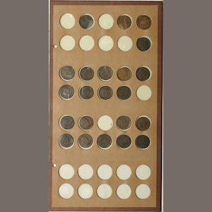 National Coin Album Sheet of Half Cents, 1794-1809