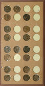 National Coin Album Sheet of Large Cents, 1832-1845