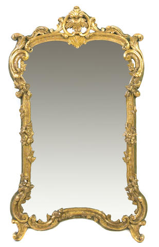 A Louis XV style giltwood wall mirror