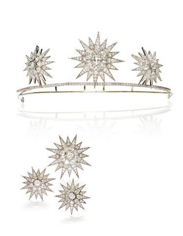 An antique diamond tiara,