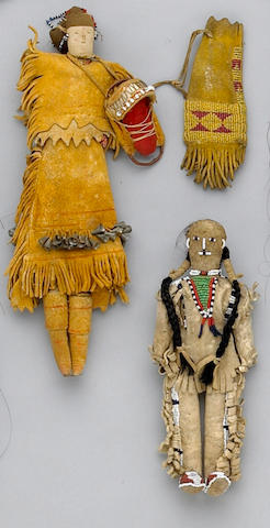 Three Native American beaded child's items