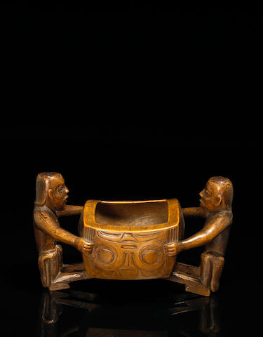 A Haida figural bowl