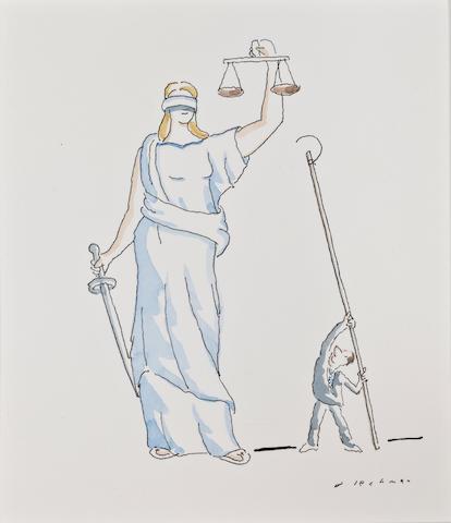"(n/a) R.O. Blechman (American, born 1930) ""Legal Mischief, """