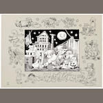 Sendak, Maurice. At Home with JAck and Guy two-color stone lithograph