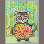 "Anita Lobel (born 1934) ""Cat Pot,"""