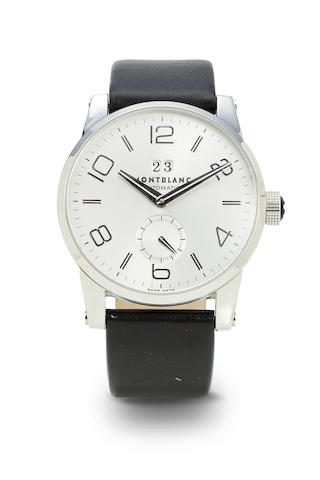 Montblanc. A stainless steel automatic wristwatch with grande dateTime Walker, Ref: 7050, no. PJ103329, 1990's
