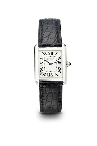 Cartier. A fine stainless steel tank wristwatch280573PL / 2716, 1990's