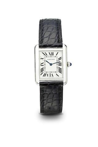 Cartier. A fine stainless steel tank wristwatch280573PL / 2716, 1990's