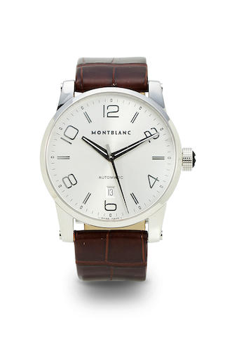 Montblanc. A stainless steel automatic center seconds wristwatch with dateMoon Walker, Ref: 7070, no. PJ107736, 2000's