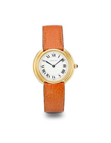 Cartier. A fine 18K gold Vendôme automatic wristwatchNo. 170030313, 1970's