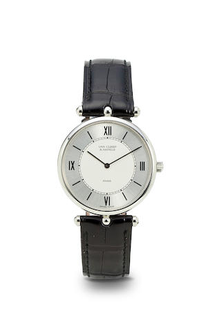 Van Cleef & Arpels. A fine stainless steel wristwatchLa Collection, Ref: 51136, no. 103812, 1990's