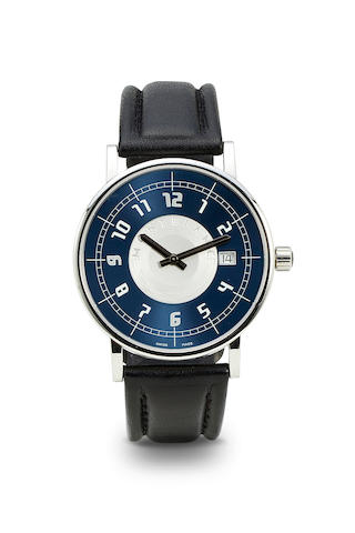 Montblanc. A stainless steel wristwatch with dateTime Walker, Ref: 7045, no. PL171286, 1990's