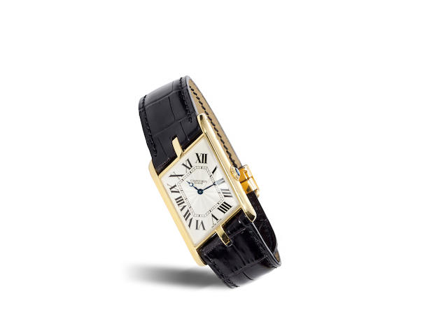 Cartier, Paris. A fine and rare 18K gold limited edition asymmetric Tank wristwatchTank Parallélogramme, Collection Privée, Ref. 2842. No. 135 / 150