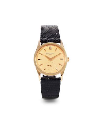 Patek Philippe. A fine 18K rose gold Calatrava wristwatch. Ref 3796, case no. 2924988, movement no. 1833429