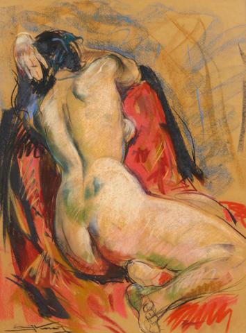 Emil Kosa Jr. Reclining nude