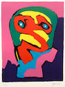Karel Appel, (2) from Personnages, 1970, ed. 24/100;