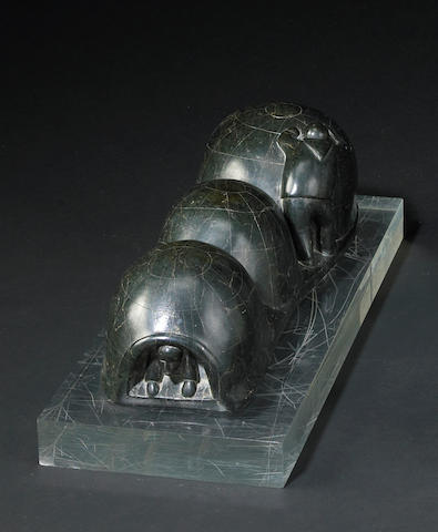 An Inuit soapstone sculpture