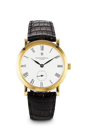 Vacheron Constantin. A fine 18K gold wristwatchRef: 92240/2, Case no. 632413, Movement no. 774441, 2000's