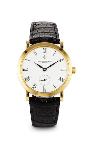 Vacheron Constantin. A fine 18K gold wristwatchRef: 92240/2, Case no. 632413, Movement no. 774441, 2000's