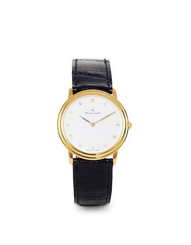 Blancpain. An 18K gold wristwatchRef: 0021, No. 2671, sold 1999