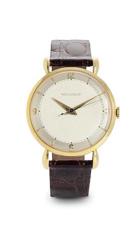 Jaeger-LeCoultre. An 18K gold center seconds wristwatchCase no. 319014, Movement No. 354447, 1950's