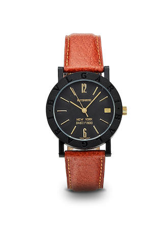 Bulgari, New York. An automatic center seconds watch with date.No. 0467 / 1600