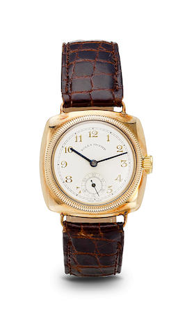 Rolex.  A 9K rose gold early Oyster wristwatchCase no. 24315, import mark for 1933