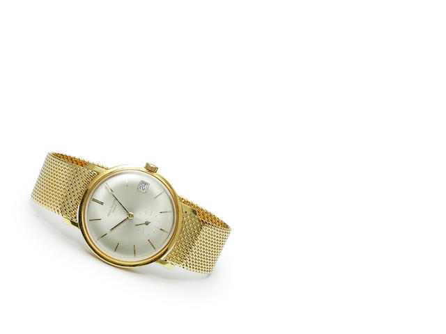 Patek Philippe. A fine 18K gold automatic calendar wristwatch with braceletRef: 3445, Case no. 313393, Movement no. 1120506, circa 1961