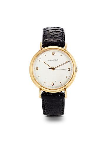IWC, Schaffhausen. An 18K rose gold center seconds wristwatchCase no. 1620219, Movement no. 1583881, 1960's