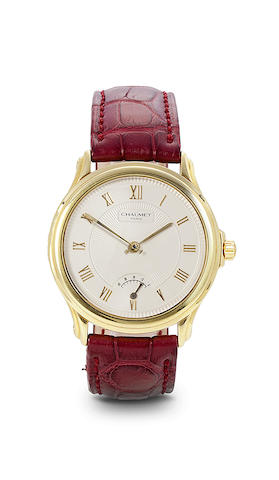 Chaumet. An 18K gold automatic wristwatch with power reserve.AQVILA, Ref: 20A-640, No. 98511000, recent