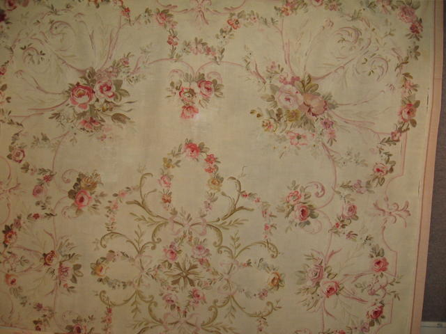 An Aubusson carpet France, size approximately 10ft. x 12ft. 7in.
