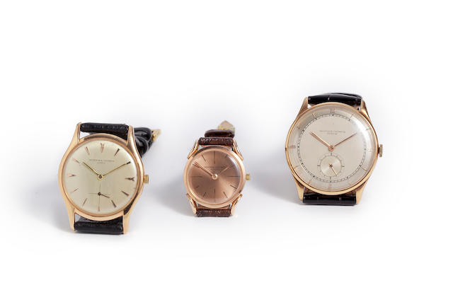Vacheron Constantin. An 18K rose gold wristwatchRef: 6185, Case no. 360250, Movement no. 530447, circa 1955