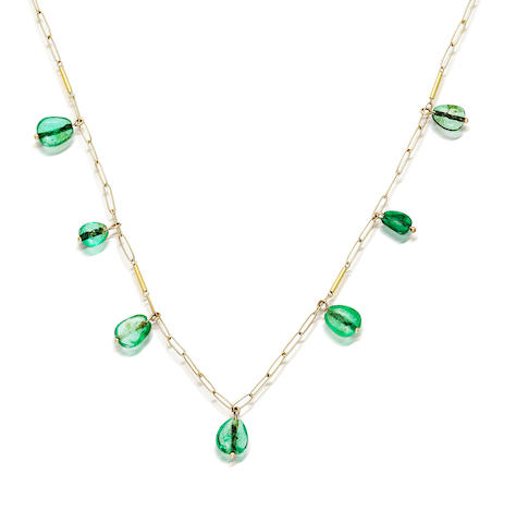 An emerald necklace