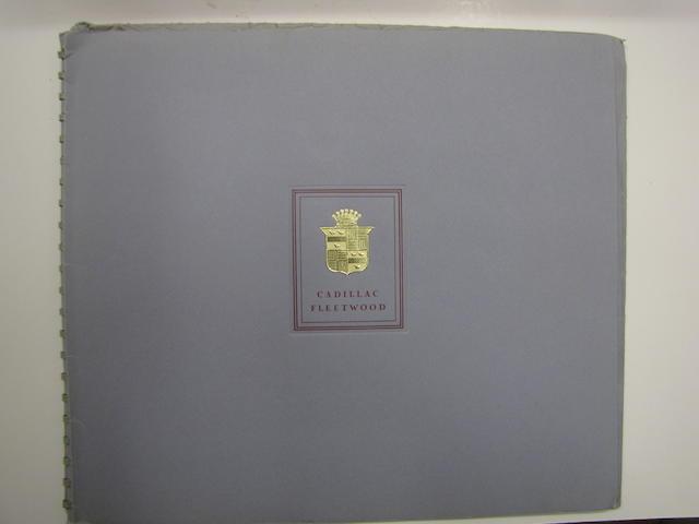 A  Cadillac Fleetwood Sales Brochure, 1941,