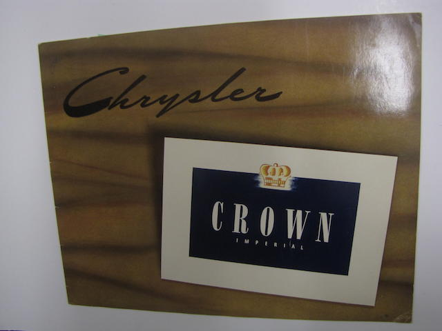 A Chrysler Crown Imperial Sales Brochure, 1941,