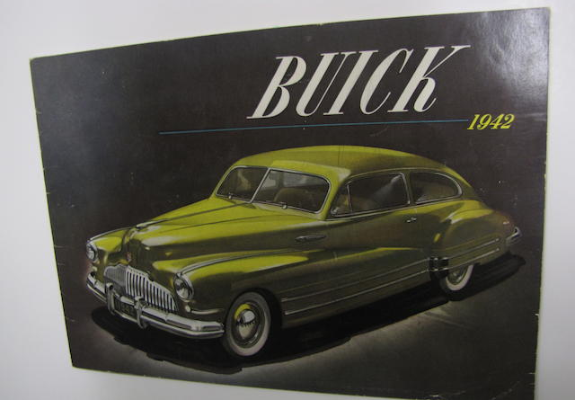 A  Buick Full Line Sales Brochure, 1942,